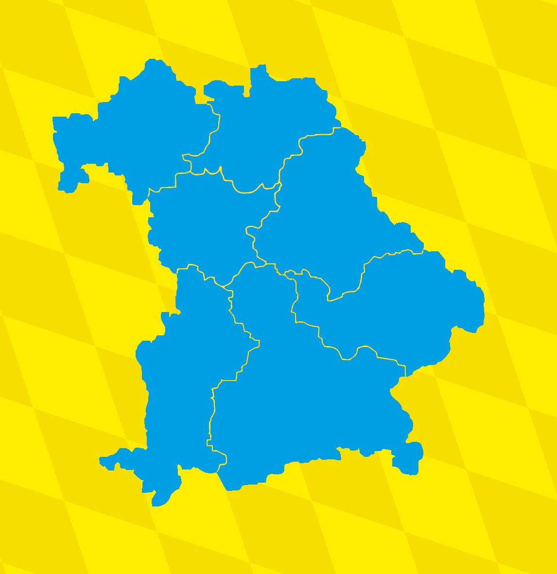 Schw303244bische Alb Karte.Karte Oberfranken Unterfranken Mittelfranken